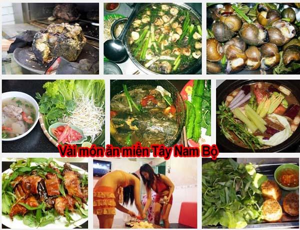 Vài món ăn miền Tây Nam Bộ
