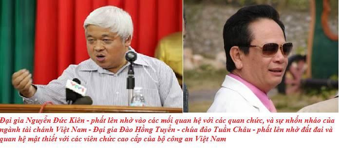 Dai gia Nguyen Duc Kien va Dao Hong Tuyen