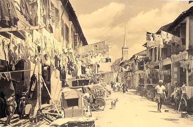 Singapore Queen street 1960