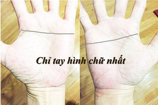 Ban tay hinh chu Nhat