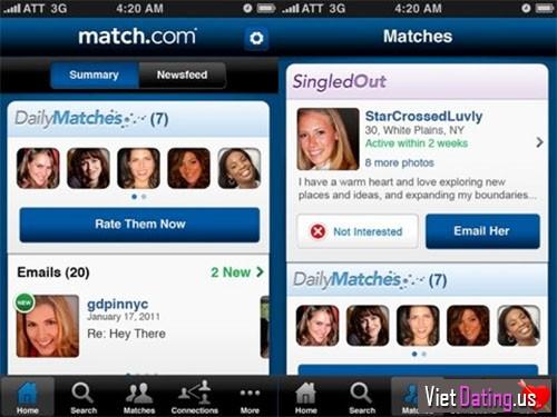 Match ung dung hen ho online